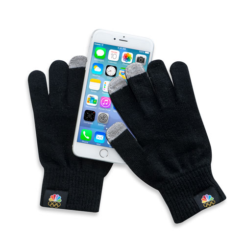 Peacock and Rings Texting Gloves