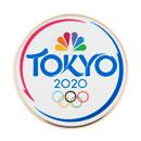 Tokyo 2020 White Lapel Pin