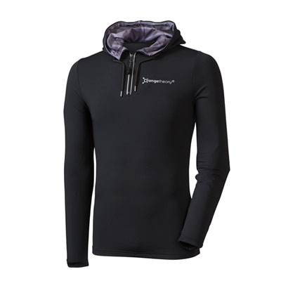 Quarter Zip Hoody Black