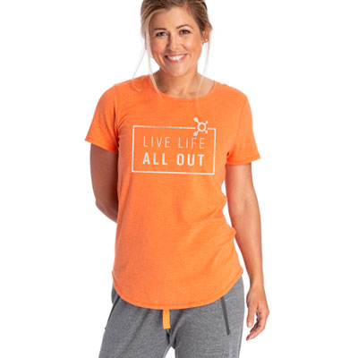 Live Life All Out Short Sleeve Tee