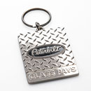 Metal Diamond Plate Key Tag