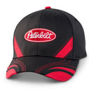 Black Fitted Racing Stripe Hat