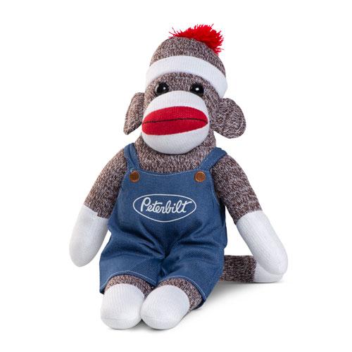 Brown Sock Monkey In Denim Overalls Peterbilt Store