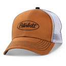 Caramel Brown Sanded Twill Structured Hat with Rigid Mesh Back