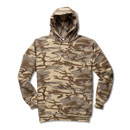 Desert Camo Port & Company® Fleece Hoodie with Red Logo