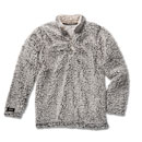 Ladies' Grey Heather Sherpa Pullover with Quarter Zip