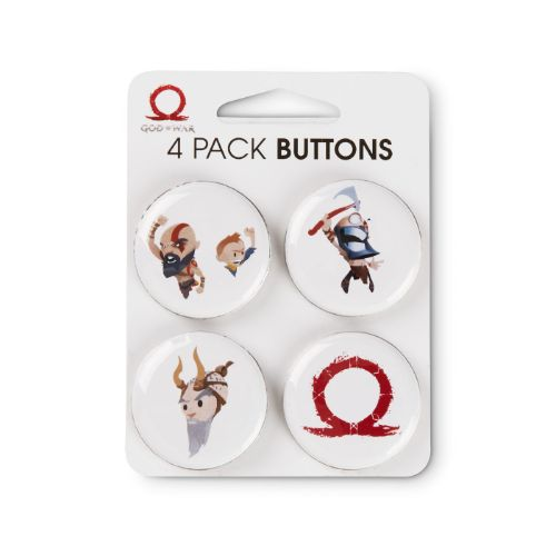 GOW Emoji 4 Pack Buttons