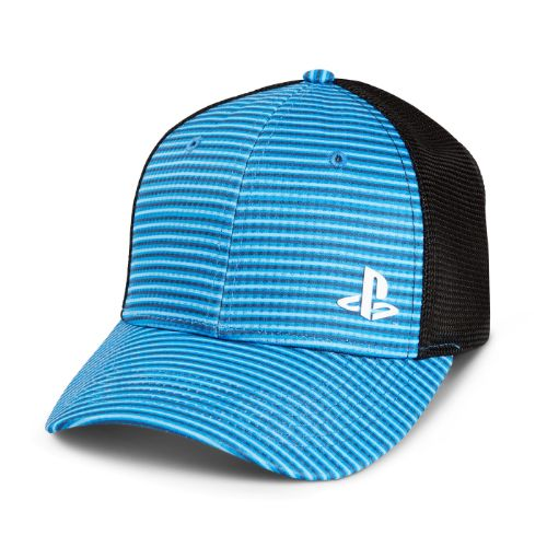 Blue Striped Mesh Hat for PlayStation