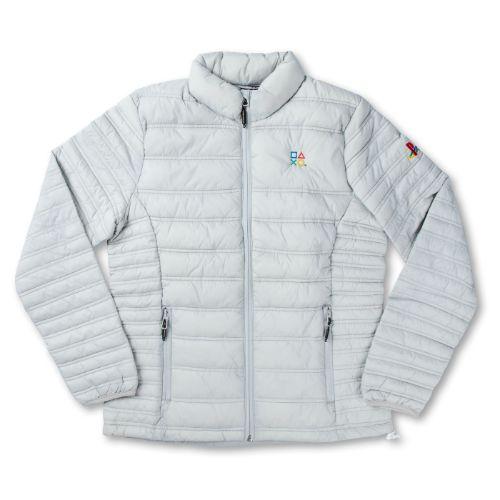 Ladies' Gray Puffer Jacket