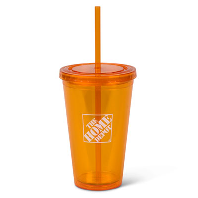 16oz. Insulated Cup with Straw