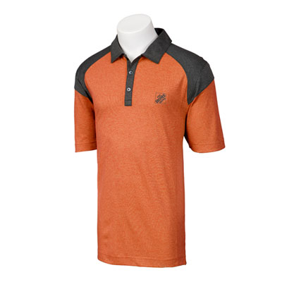 Orange Colorblock Polo Shirt