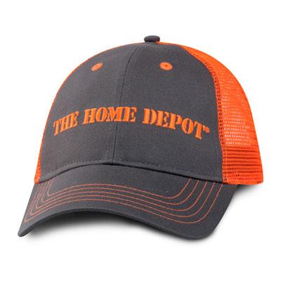 Orange & Charcoal Mesh Hat