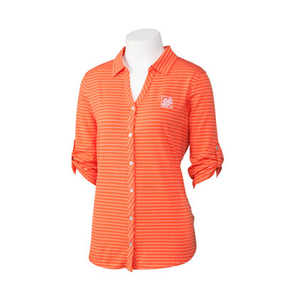 Ladies' Cutter & Buck Striped Polo