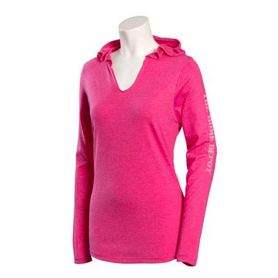 Ladies' Long-Sleeve Hooded T-shirt