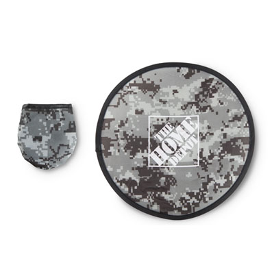 Flexible Camouflage Flying Disc