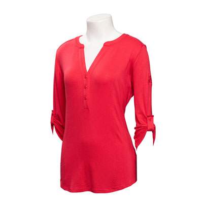 Ladies Y-Neck 3/4-Sleeve Jersey Shirt