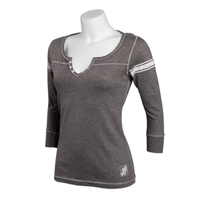 Ladies 3/4-Sleeve Henley
