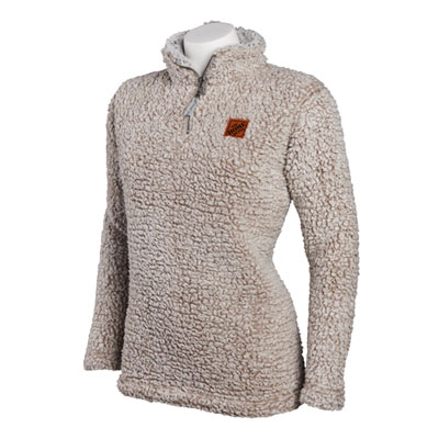 Ladies Quarter-Zip Sherpa Pullover