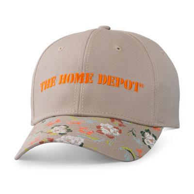 Ladies' Khaki Floral Hat