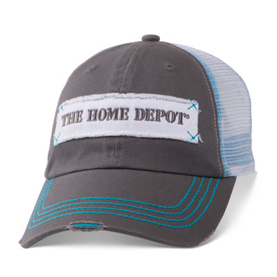 Distressed Patch Mesh Hat