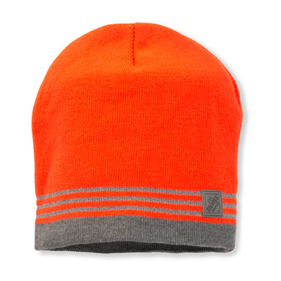 Solid Beanie with Reflective Yarn