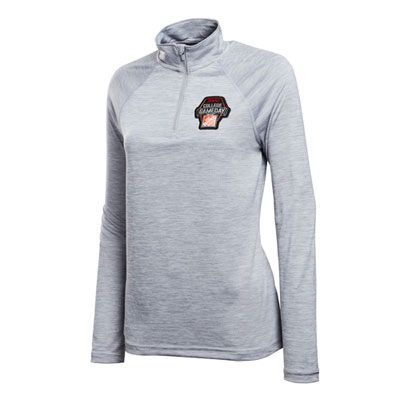 "Ladies ""Space Dyed"" Quarter-Zip Performance Pullover"