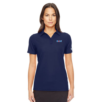 Ladies' Under Armour® navy polo