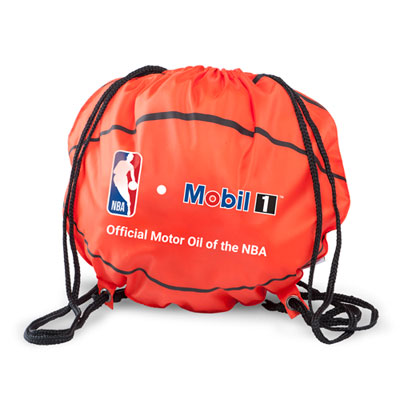 Mobil 1™ NBA basketball cinch bag