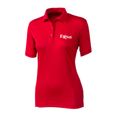 Ladies' pique red polo
