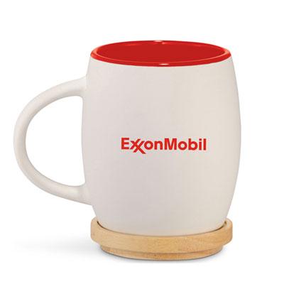 Hearth ceramic mug with lid