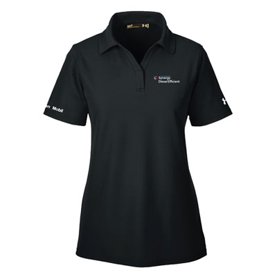 Ladies' Synergy Diesel Efficient™ Under Armour® black polo