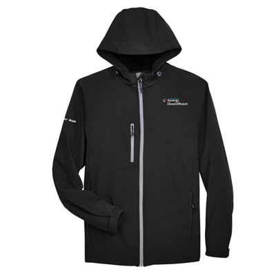 Men's Synergy Diesel Efficient™ hooded black jacket