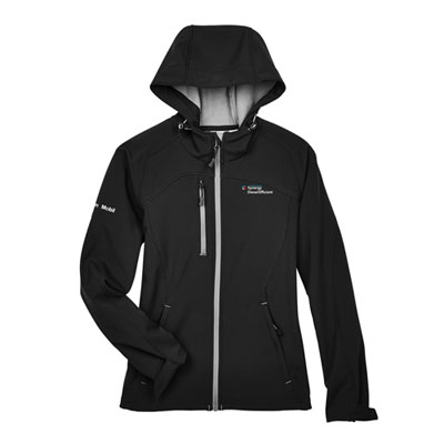 Ladies' Synergy Diesel Efficient™ hooded black jacket