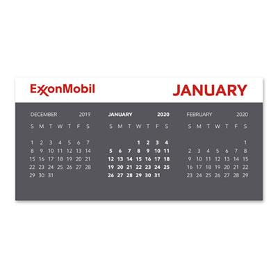 2020 Table tent calendar - set of 5