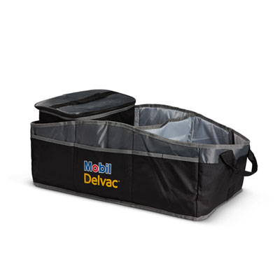 Mobil Delvac™ Collapsible 2-in-1 trunk organizer
