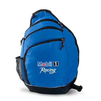 Blue mono sling bag