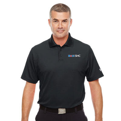 Men's Mobil SHC™ Under Armour® black polo