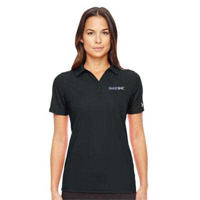 Ladies' Mobil SHC™ Under Armour® black polo