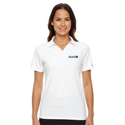 Ladies' Under Armour® white polo