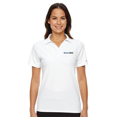 Ladies' Mobil SHC™ Under Armour® white polo