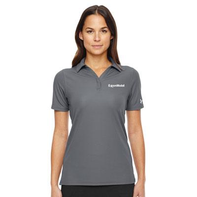 Ladies' Under Armour® graphite polo