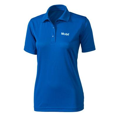 Ladies' Mobil™ pique blue polo