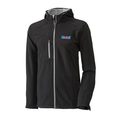 Men's Mobil™ hooded black jacket