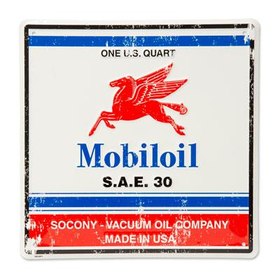 Vintage MobilOil metal tacker sign