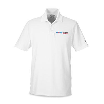 Men's Mobil Super™ Under Armour® white polo
