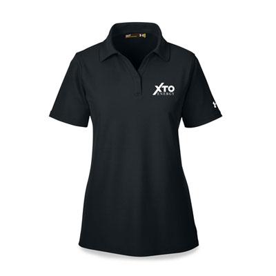 Ladies' XTO Energy™ Under Armour® black polo
