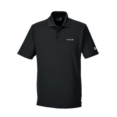 Men's Under Armour® black polo
