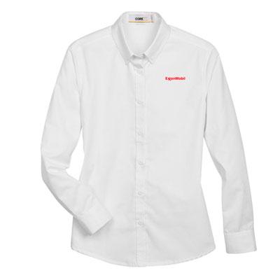 Ladies' ExxonMobil UV white dress shirt