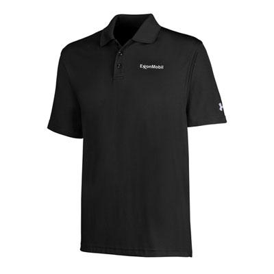 Men's ExxonMobil Under Armour® black polo