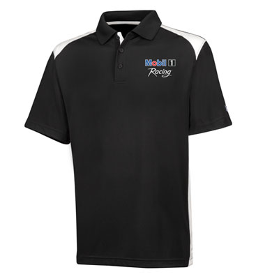 Men's Mobil 1 Racing™ Under Armour® black/white polo